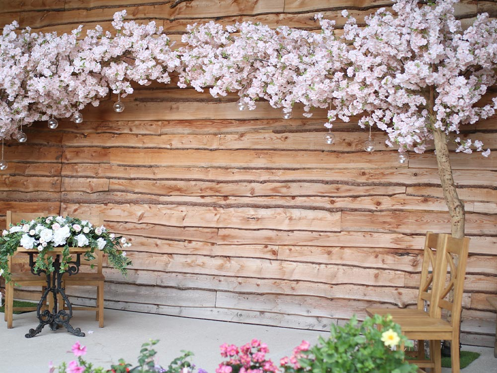 2 4m Pink Cherry Blossom Tree Centrepieces Hire